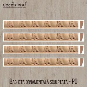 Bagheta ornamentala sculptata din lemn de fag PO