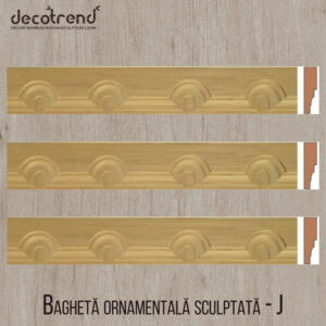 Bagheta ornamentala sculptata din lemn de ramin J