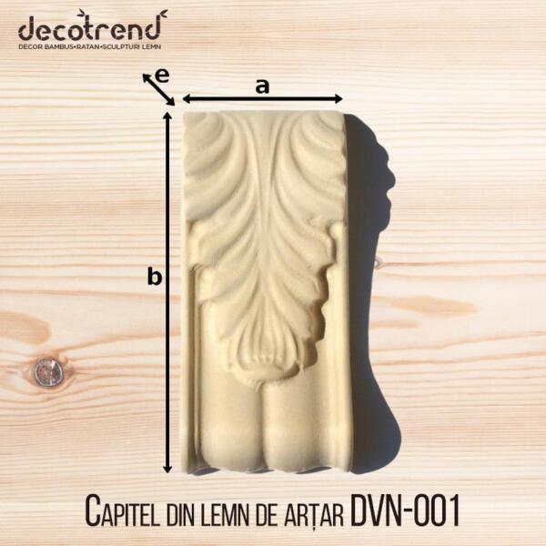 Capitel din lemn de artar DVN-001