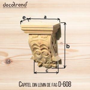 Capitel din lemn de fag D-608
