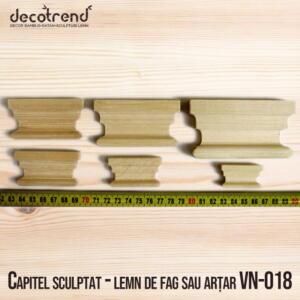 Capitel sculptat - lemn de fag sau arțar VN-018