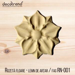 Rozeta floare ornament pentru mobila rn-001