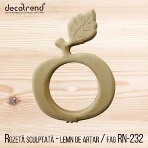 Sculptura din lemn in forma de mar decoratiune din lemn rn-232