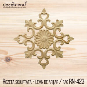 Aplica din lemn decoratiune din lemn pentru mobila rozete RN-423