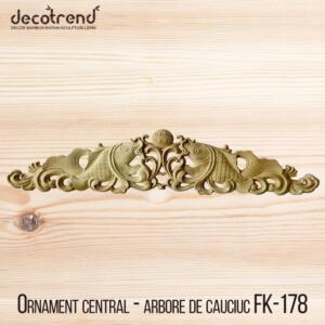 Decoratiuni din lemn, ornamente din lemn orizontal in forma de peste FK-178