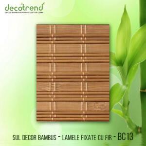 BC13 Sul decor bambus - lamele fixate cu fir