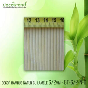BT-6_2-N-0 Decor bambus natur cu lamele 6_2mm