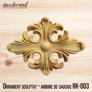 Ornament sculptat - arbore de cauciuc RK-003