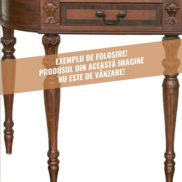 Exemple de folosire picioare lemn mobila sculptate